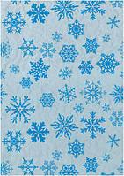 Новогодняя бумага для упаковки подарков 70*100 см