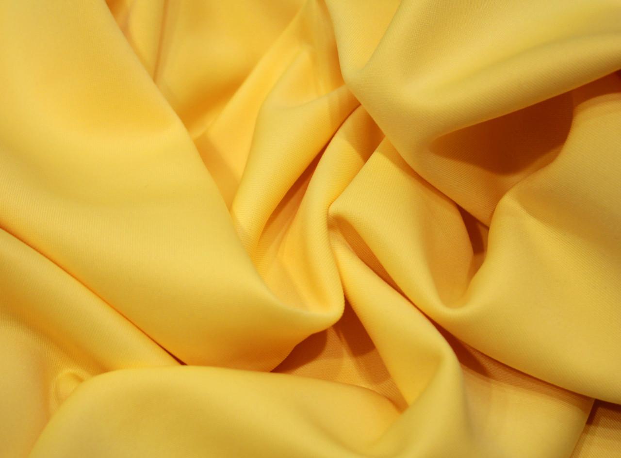 Трикотаж дайвинг желтый