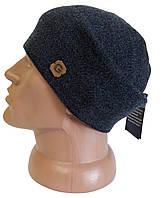 Зимняя вязанная шапка Genner на флисе