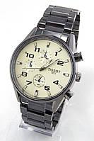 Мужские наручные часы Tissot (серебристый циферблат, антрацитовый ремешок) (Копия)