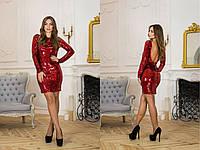 Платье в пайетку с открытой спиной (вырез) (разные расцветки) 14131PL