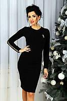 Платье женское по фигуре ,Материал: ангора,Отделка-золотая чешуя. цвет черный фото реал зп №565