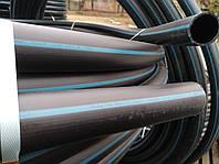 Труба полиэтиленовая  50 мм 6 атм черно синяя