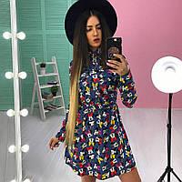 Красивое молодежное платье АМС-1711.077(1)