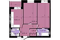 2 комнатная квартира 63,02 метра ЖК «Чайка», улица Академика Сахарова