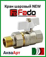 Fado кран шаровой с американкой прямой NEW PN40 15 1/2'' белая ручка
