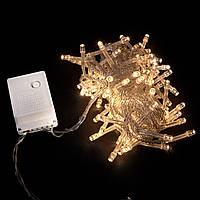 Гирлянда внутренняя DELUX STRING С 100LED 5m тепл.бел/прозр IP20, фото 1