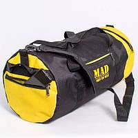 Спортивная сумка 40L  черно-желтая (тубус,цилиндр)