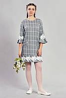 Подростковое платье в клетку 389