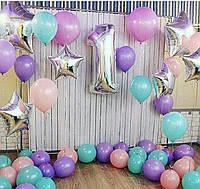 Связка гелиевых шаров и воздушные шары на подарок, фото 1
