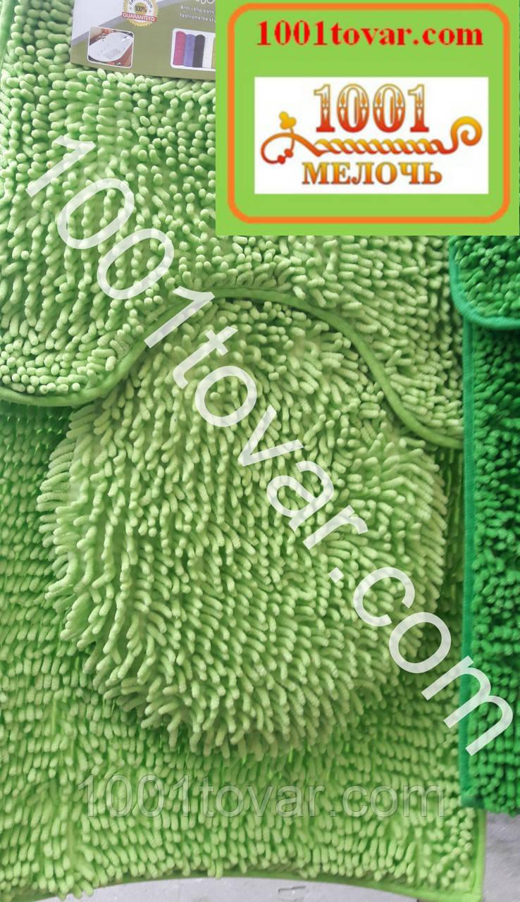 """Набор из 3-х ковриков из микрофибры """"Макароны или дреды"""" в ванную 80х50 см. и туалет 40х50 см., 45х35 см."""