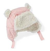 Зимняя детская шапочка с ушками для малышей