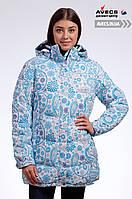 Женская зимняя куртка Avecs 7739685 Blue наполнитель холлофайбер холодная зима недорого | Avecs куртка размер
