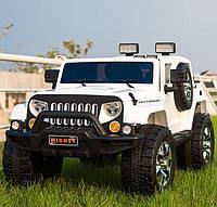 Электромобиль детский Hummer кожаное сиденьеM 3445 EBLR-1, белый