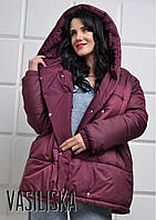 Куртка - пуховик зефирка женский очень теплый много цветов GV193