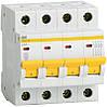 Автоматический выключатель ВА47-29 4Р 6А 4,5кА х-ка В ИЭК