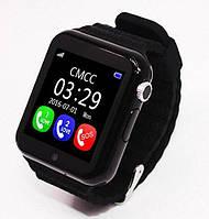 Стильные детские Smart Watch V7K с GPS умные часы с камерой, плеером, цвет черный