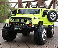 Электромобиль детский Hummer кожаное сиденьеM 3445 EBLR-5, зеленый
