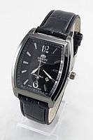 Мужские наручные часы Orient (антрацитовый корпус, черный ремешок)