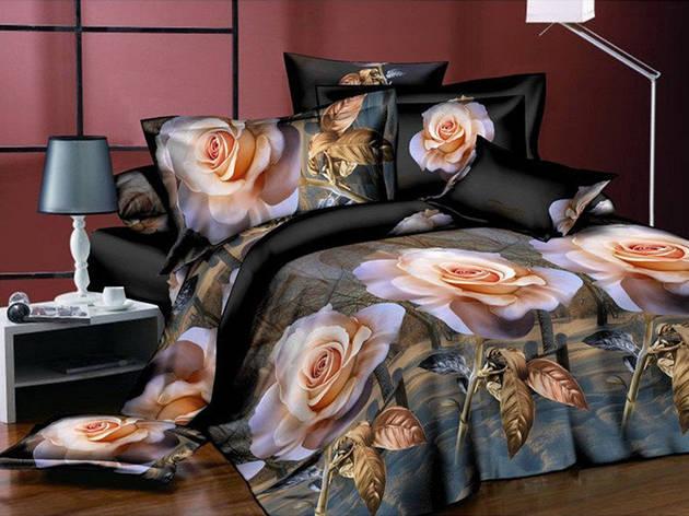 Двуспальный комплект постельного белья евро 200*220 хлопок  (5648) TM KRISPOL Украина, фото 2