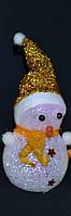 Новогоднее Интерьерное Украшение Снеговик Светящийся 15 см