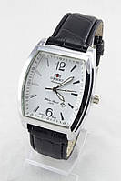 Мужские наручные часы Orient (серебристый корпус, черный ремешок)