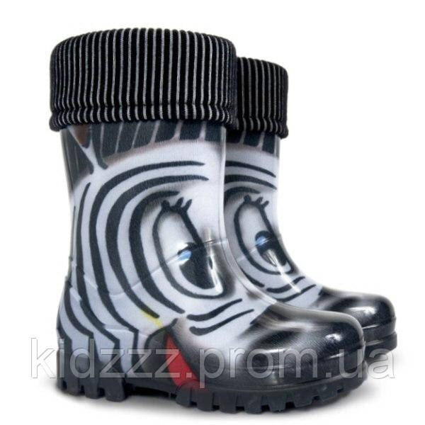 Детские резиновые сапоги Twister  LUX PRINT Зебра Demar (Демар)