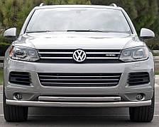 Кенгурятник двойной ус на Volkswagen Touareg (c 2002--) Фольксваген Туарег