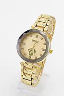 Женские кварцевые наручные часы с золотым металлическим ремешком , фото 1