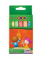 Мел цветной Zibi в картонной коробке 10 штук