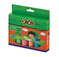 Мел цветной Zibi в картонной коробке 6 штук JUMBO
