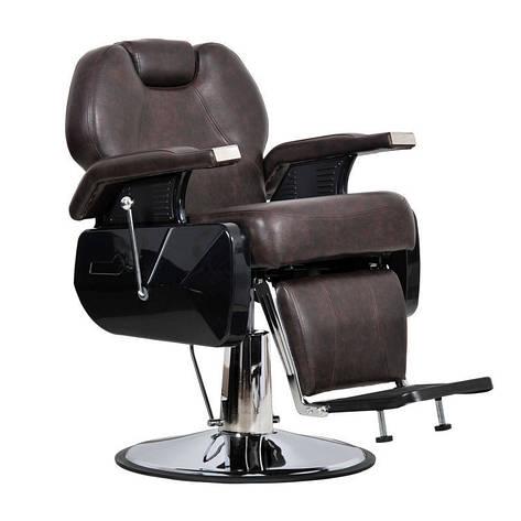 Мужское парикмахерское кресло Elite коричневое, фото 2
