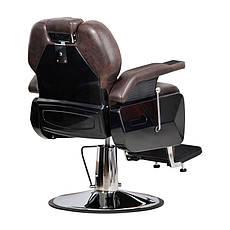 Мужское парикмахерское кресло Elite коричневое, фото 3