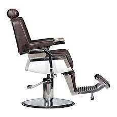 Мужское парикмахерское кресло Barber коричневое, фото 2