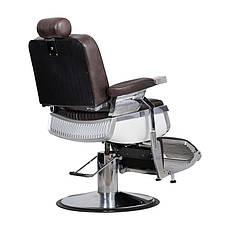 Мужское парикмахерское кресло Barber коричневое, фото 3