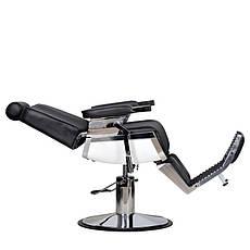Мужское парикмахерское кресло Barber черное, фото 2