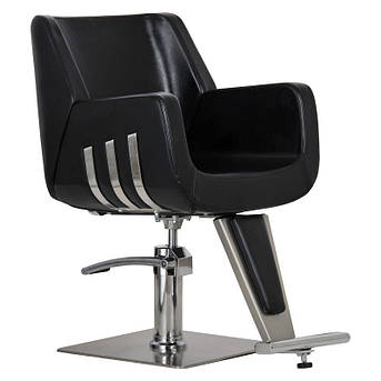 Парикмахерское кресло Enzo черное, фото 2