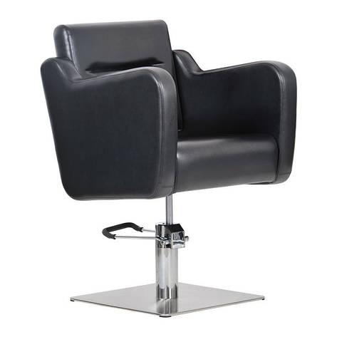 Парикмахерское кресло Lux черное, фото 2