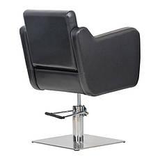 Парикмахерское кресло Lux черное, фото 3