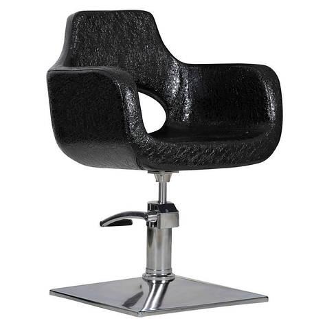 Парикмахерское кресло Mediolan черный крокодил, фото 2