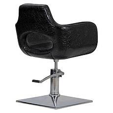 Парикмахерское кресло Mediolan черный крокодил, фото 3