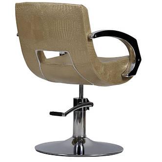 Парикмахерское кресло Roma золотой крокодил, фото 2