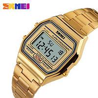 Мужские часы - Skmei 1123 - Gold, золотистый цвет (quartz), фото 1