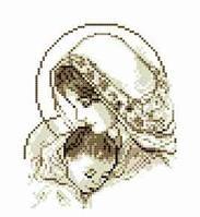 Схема для вишивки бісером Мадонна з дитям 20х25см