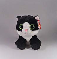 "Мягкая игрушка глазастик антистрес TY Beanie Babies 42185 Черно-белый котенок ""Ava"" 15см"