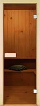 Стеклянные двери для бани и сауны прозрачные