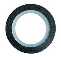 Бархатная лента для ногтей (черная), 1 мм