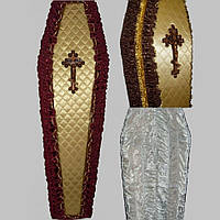 Элит стёганный атлас кант гроб оббитый 200х70 см