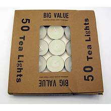 Свечи чайные белые набор 50 шт.