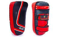 Макивара тай-пэд кожаная (1шт) ZEL ZB-3064 (р-р 12x17x37см, черно-красный)